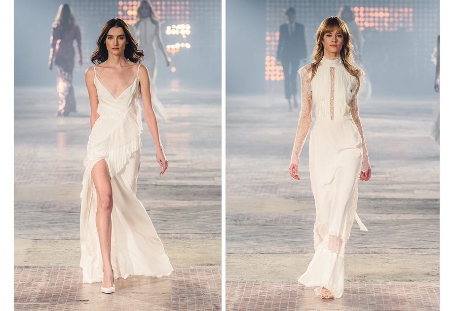 Białe kreacje Macieja Zienia mogą być wykorzystane jako suknie ślubne
