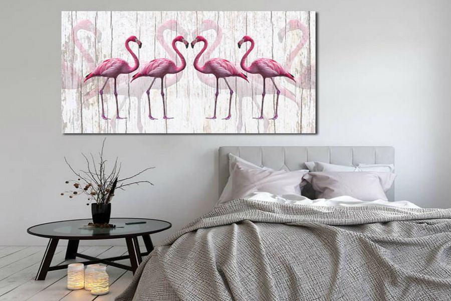 TREND: flamingi we wnętrzach