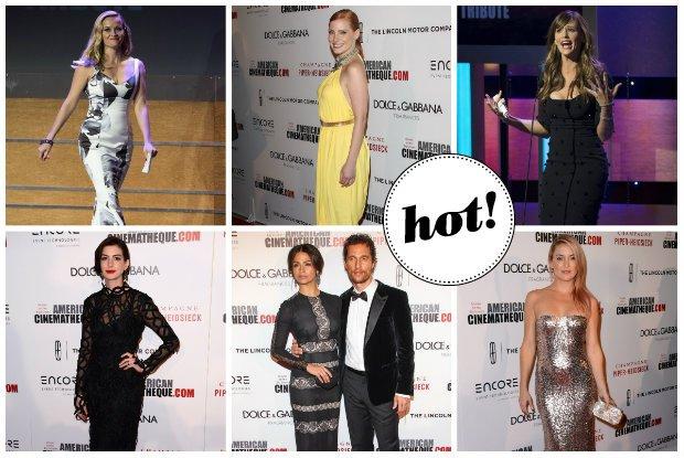 Gala wręczenia nagród The American Cinematheque: Matthew McConaughey z piękną żoną i uroczą córeczką, seksowna Kate Hudson, Reese Witherspoon w stylu retro glamour i awangardowa Anne Hathaway
