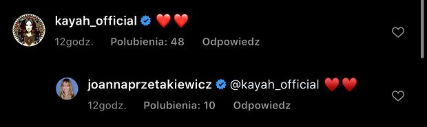 Screen komentarza pod zdjęciem J. Przetakiewicz
