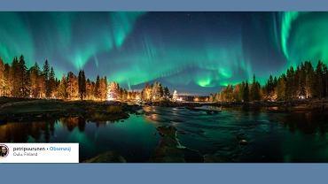 Zorza polarna nad Finlandią wzbudza powszechny zachwyt