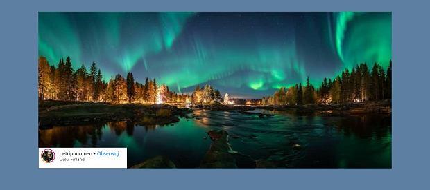 Zielona zorza polarna w Finlandii. Dawno nie wiedzieliście czegoś tak spektakularnego
