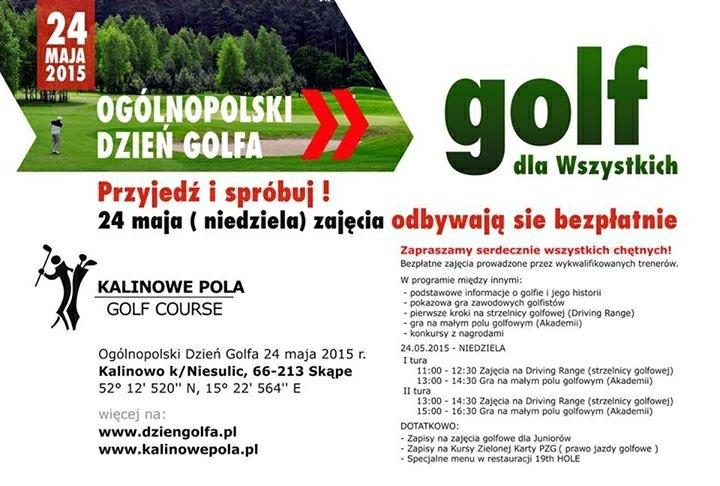 Niedziela - dzień otwarty dla amatorów golfa w Kalinowie