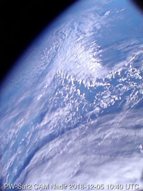 Zdjęcie wykonane przez polskiego satelitę
