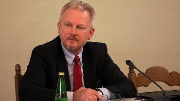 Były wiceszef KNF Wojciech Kwaśniak podczas posiedzenia Sejmowej Komisji Śledczej do zbadania afery Amber Gold. Warszawa, 8 lutego 2017 r.