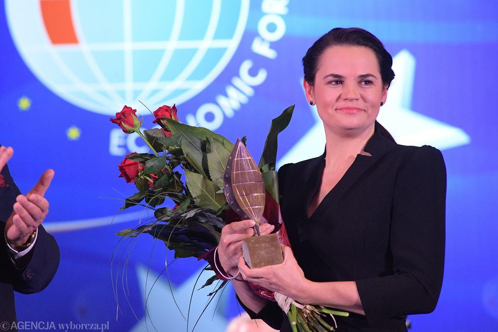 Swiatłana Cichanouska odwiedziła forum tegoroczne, w Karpaczu
