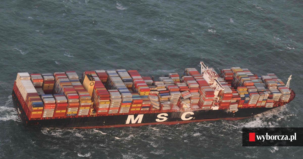 W superbly Statek płynący do Gdańska zgubił po drodze 270 kontenerów. Trwa HH17
