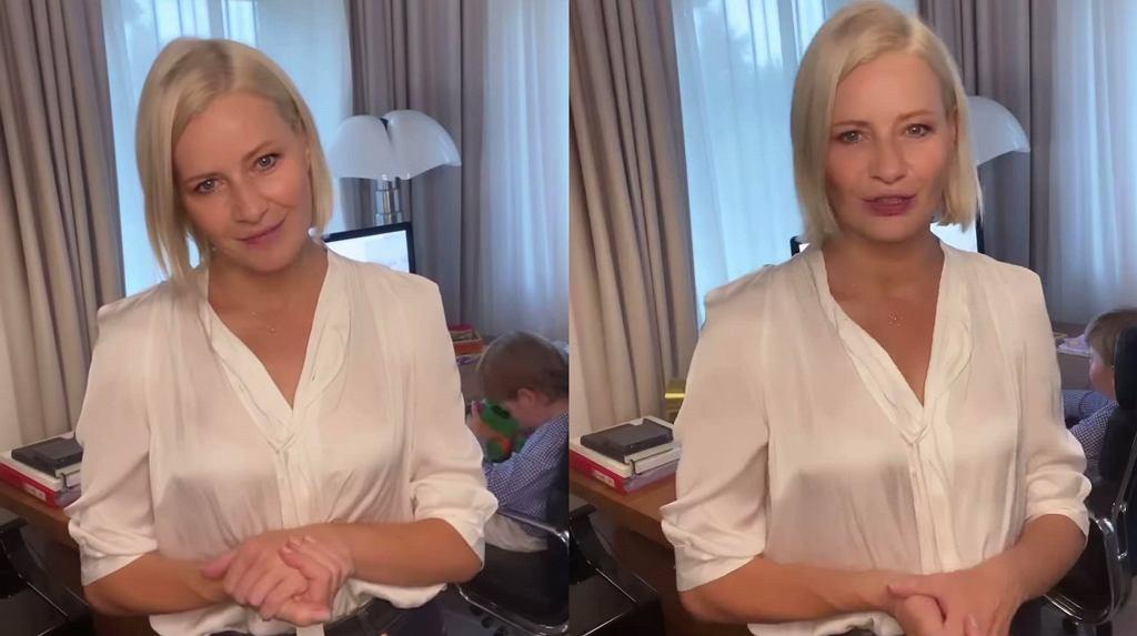 Małgorzata Kożuchowska w stylowej fryzurze