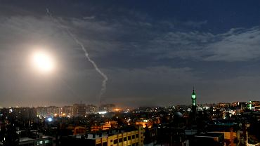 Izraelskie pociski spadły w nocy na irańskie bazy w okolicach Damaszku. Syria, 21 stycznia 2019