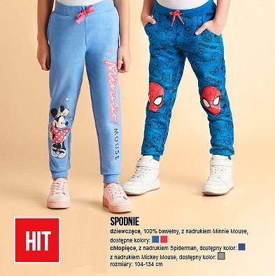 Bawełniane spodnie z nadrukiem