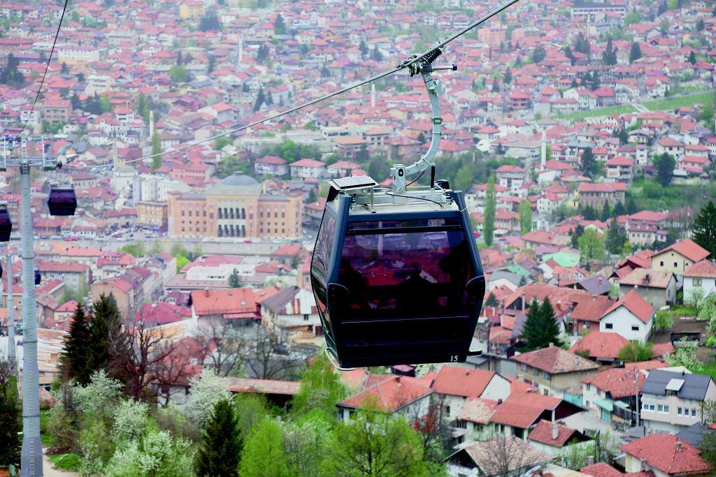 Kolejka linowa na wzgórze Trebevic