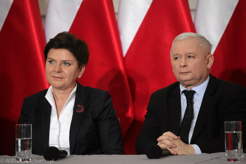 Premier Beata Szydło i Jarosław Kaczyński