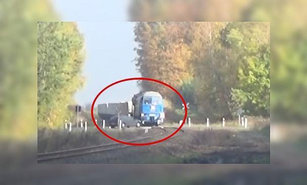 Lubuskie. Rozpędzone auto wjechało na przejazd kolejowy. 'Centymetry od śmierci'