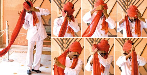 Indie - podróż po Radżasthanie, azja, podróże, Jak fachowo zawiązać turban