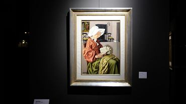Obraz Tamary Łempickiej 'Czytająca I' w ostatnich dniach był prezentowany na wystawie w Domu Aukcyjnym DESA Unicum