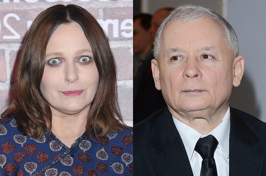 Kasia Nosowska i Jarosław Kaczyński