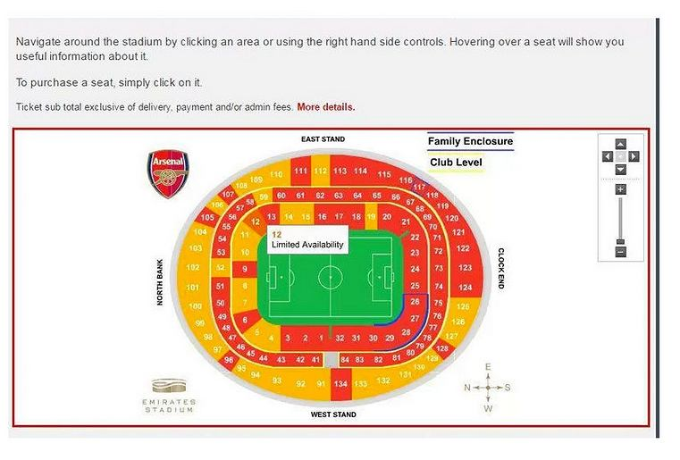Zapełnienie trybun Arsenalu 4