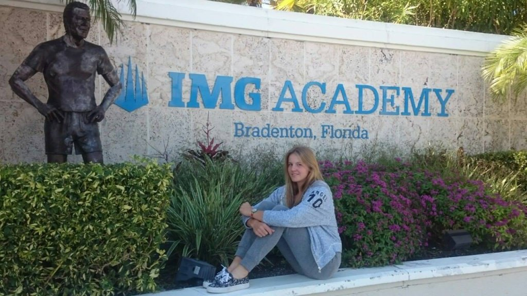 Martyna Kubka w akademii tenisowej na Florydzie