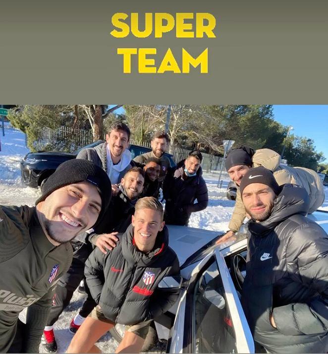 Piłkarze Atletico z Fiatem Pandą