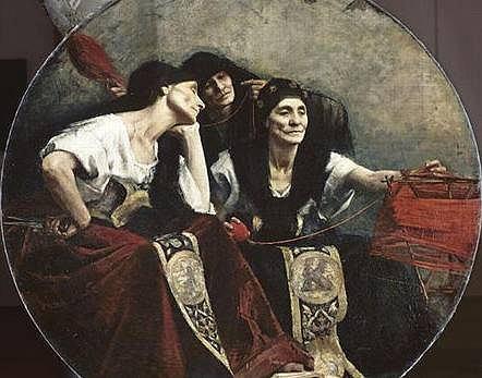 Parki - obraz Alfreda Agache'a, ok. 1885.