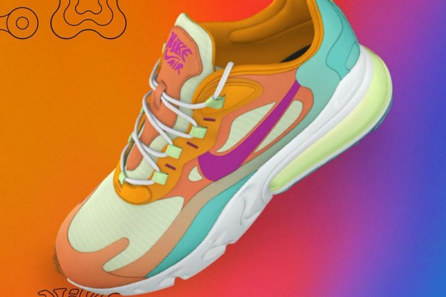 kolorowe buty sportowe Nike