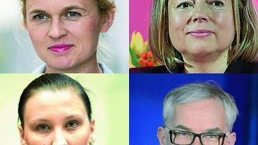 Barbara Nowacka (Twój Ruch), Wanda Nowicka (Wolność i Równość), Paulina Piechna-Więckiewicz (SLD), Waldemar Witkowski (Unia Pracy)