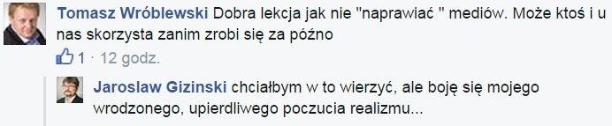 Wpis na Facebooku