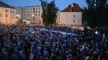 Protest w obronie Sądu Najwyższego i polskich sędziów w Warszawie, 4 lipca 2018