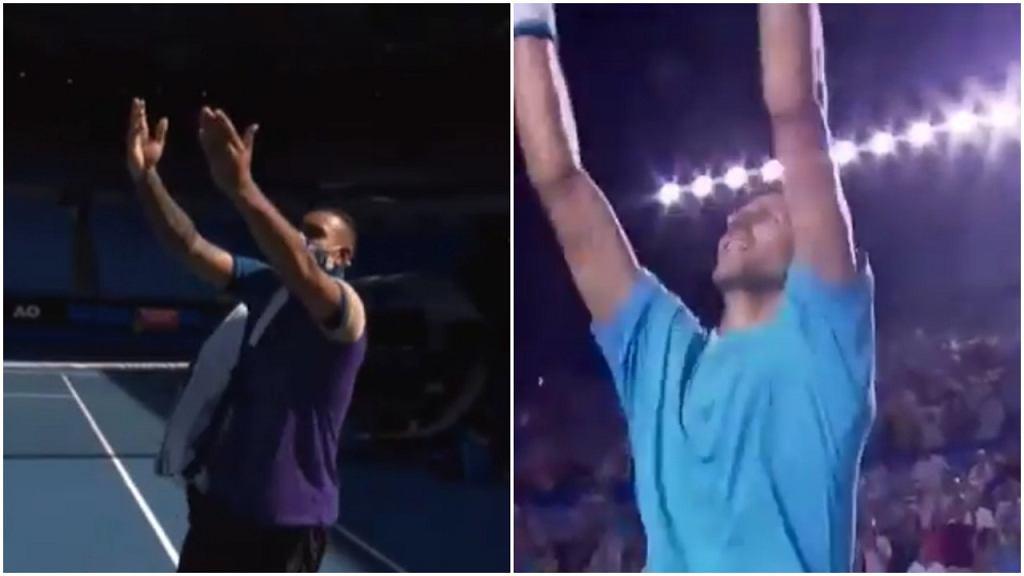 Nick Kyrgios imitował cieszynkę Novaka Djokovicia