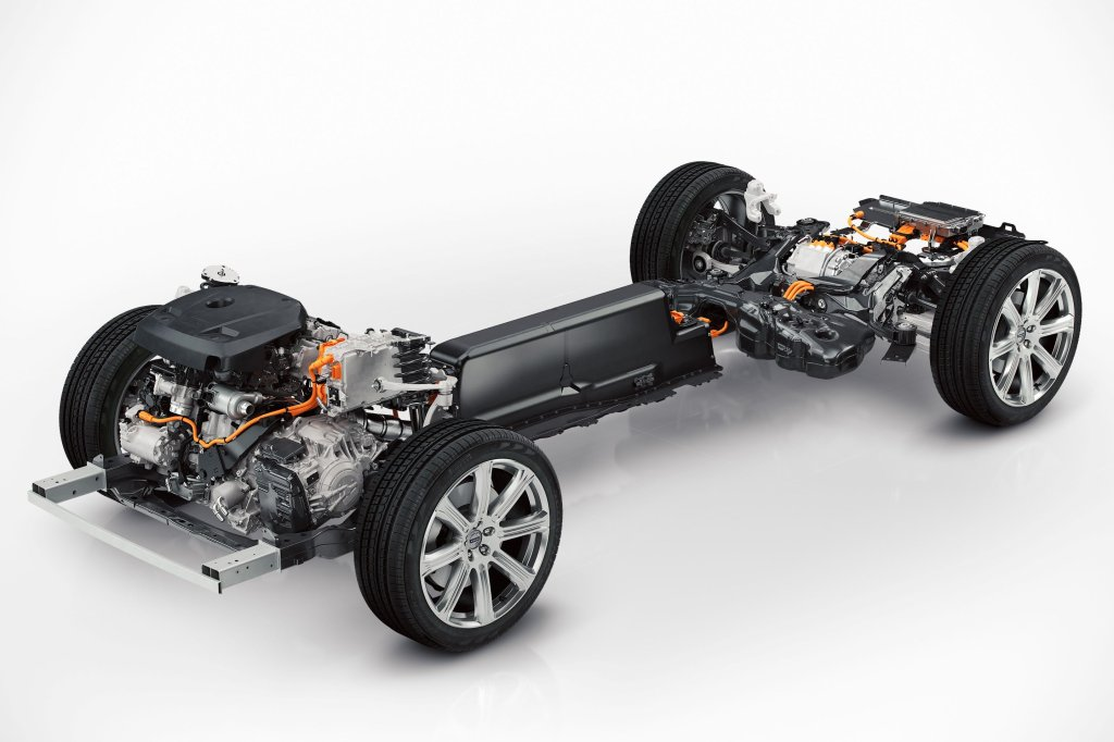 Elementy hybrydowego układu napędowego w nowym Volvo XC90