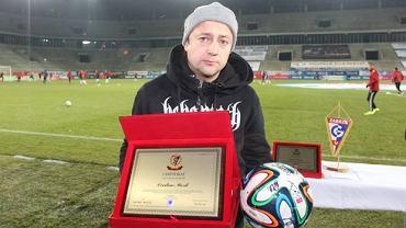 Czesław Mozil na stadionie Górnika Zabrze