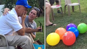 Kolorowe balony doprowadziły go do łez.