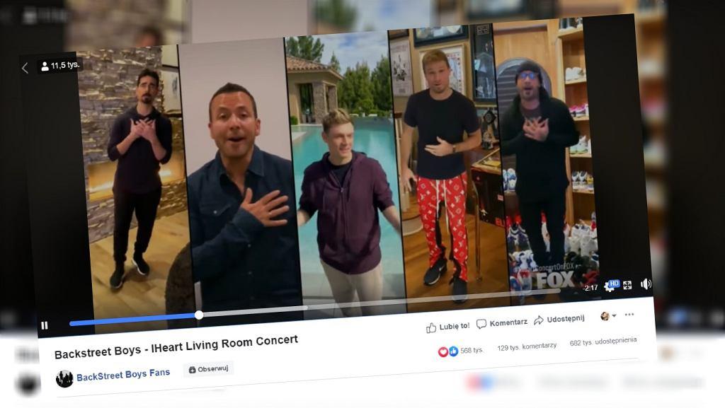 Backstreet Boys pokazali, że zostali w domach z dziecmi