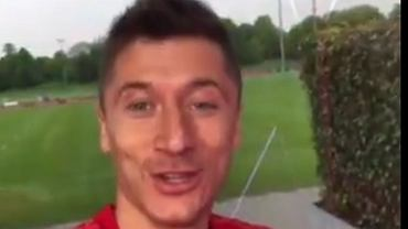 Robert Lewandowski w nowej koszulce Bayernu