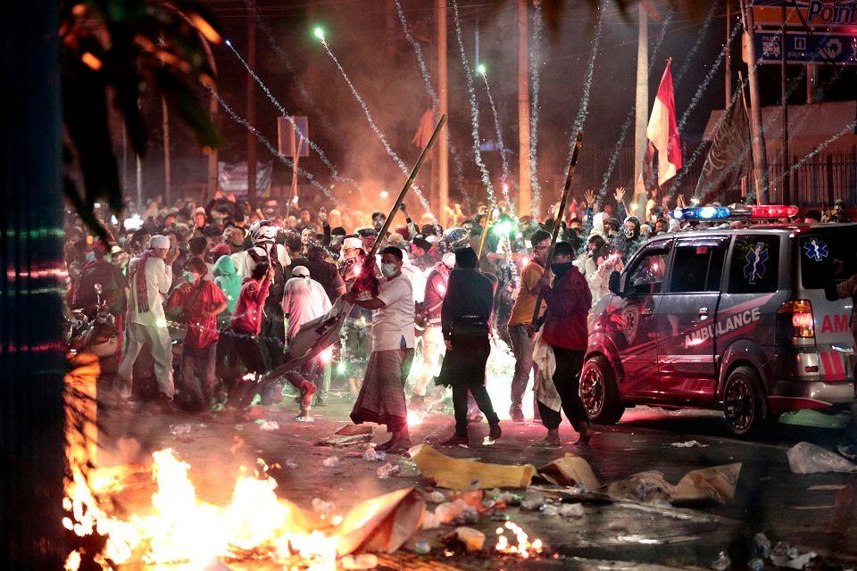 22.05.2019, zamieszki w Dżakarcie po wyborach prezydenckich.