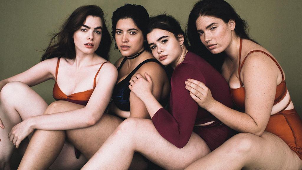 All Woman Project, inicjatywa promująca różne rodzaje piękna. Od lewej: Charli Howard, Denise Bidot, Barbie Ferreira, Clementine Desseaux