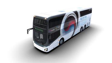Elektryczny, dwupoziomowy autobus Hyundaia