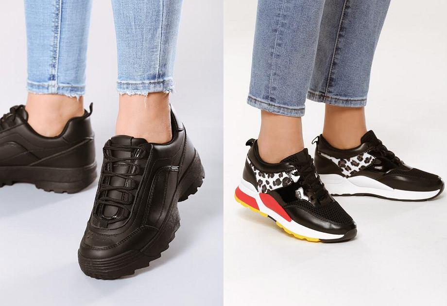 Sneakersy w czarnym kolorze