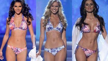 Kandydatki na Miss Universe w bikini.