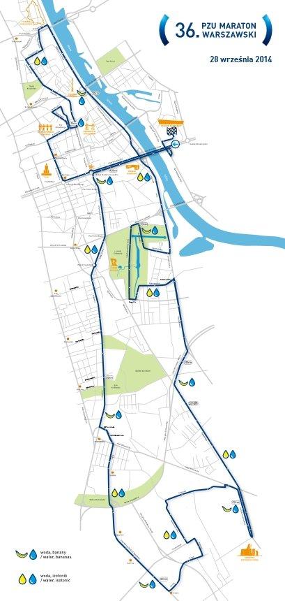 Trasa 36. Maratonu Warszawskiego