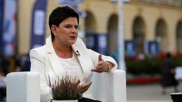 Wicepremier Beata Szydło podczas XXVIII Forum Ekonomicznego w Krynicy