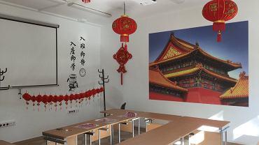 Sala do nauki języka chińskiego na Politechnice Białostockiej