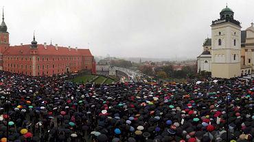 Czarny protest w Warszawie, 03.10.2016 r.