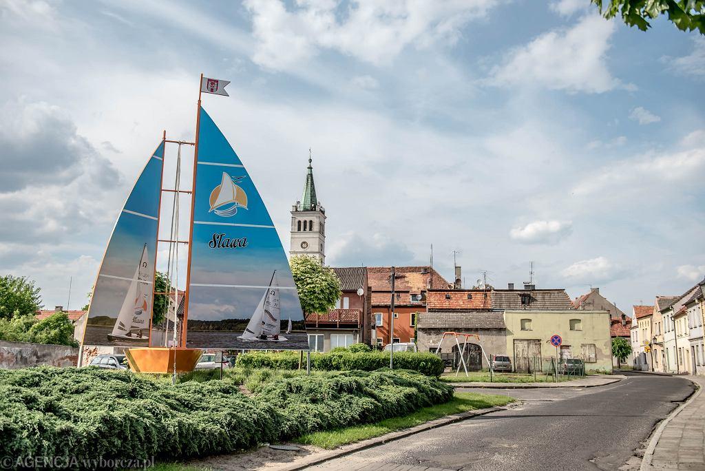 Sława , centrum miasteczka . / Fot. Władysław Czulak/Agencja Gazeta