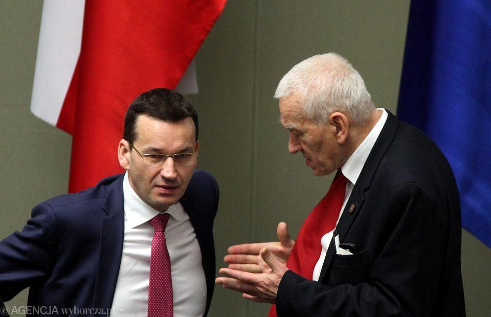 Wybory parlamentarne 2019. Premier Mateusz Morawiecki i jego ojciec Kornel Morawiecki