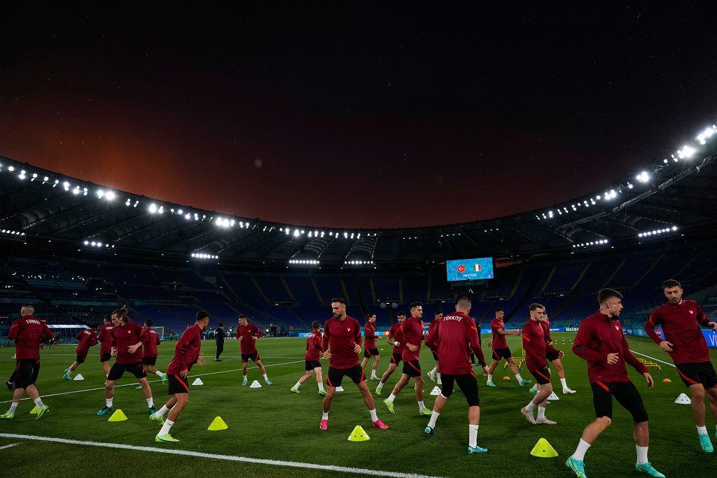 Reprezentacja Turcji podczas treningu przed meczem otwarcia Euro 2020.