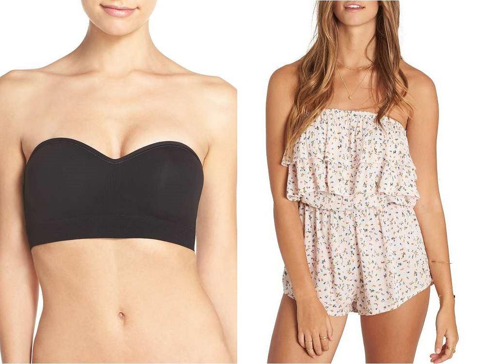 Ubrania 'bez ramion' wymagają odpowiedniej bielizny albo... sprytnego triku