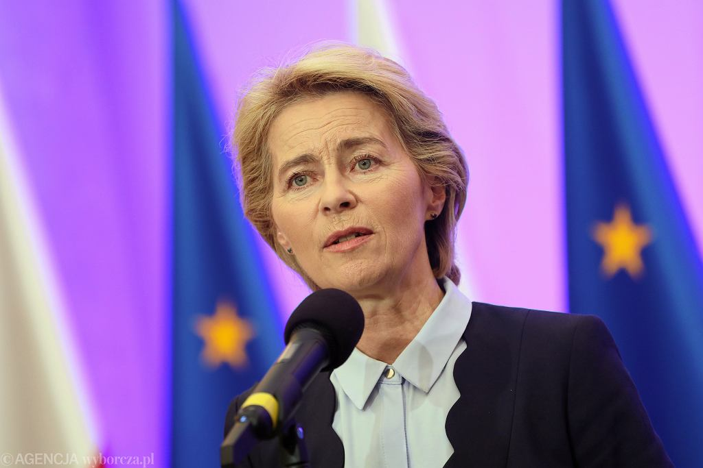 Ursula von der Leyen za sankcjami na władze Białorusi