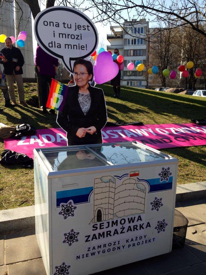 Happening pod Sejmem