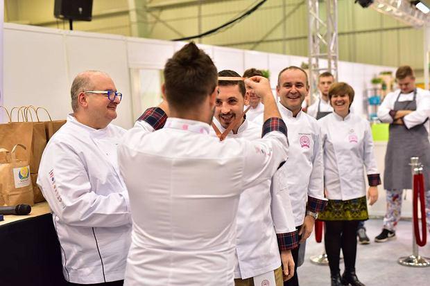 Michał Żulewski odbiera nagrodę za zajęcie 3. miejsca